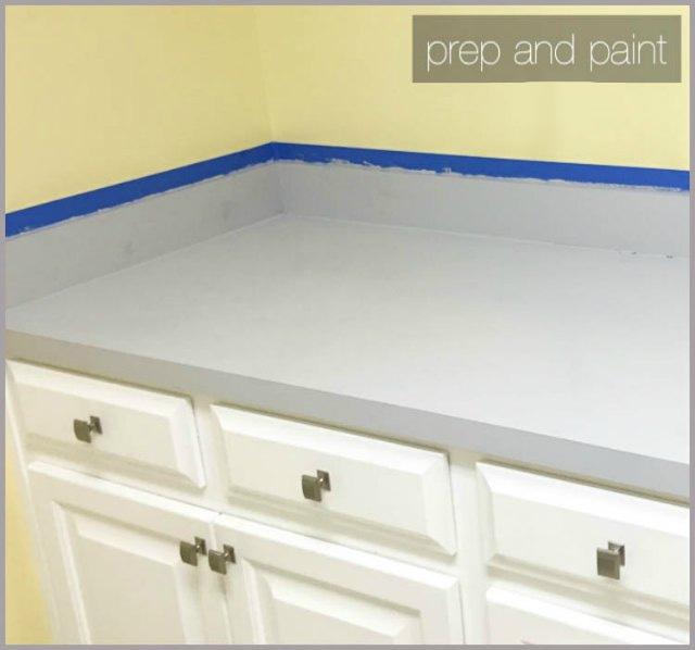 Rustoleum Countertop Paint Second Coat : Next, we painted the countertop with Rustoleum Countertop Coating. We ...