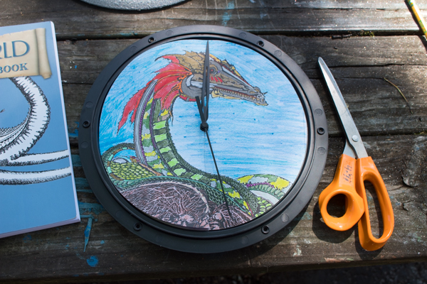 Refinish a Clock with a Coloring Page